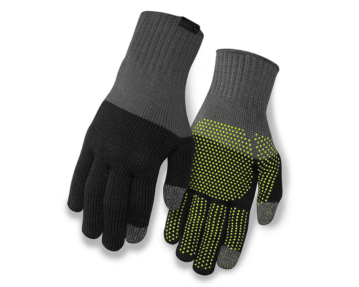 Giro Merino Wool Bike Gloves (Gray/Black) (S/M)