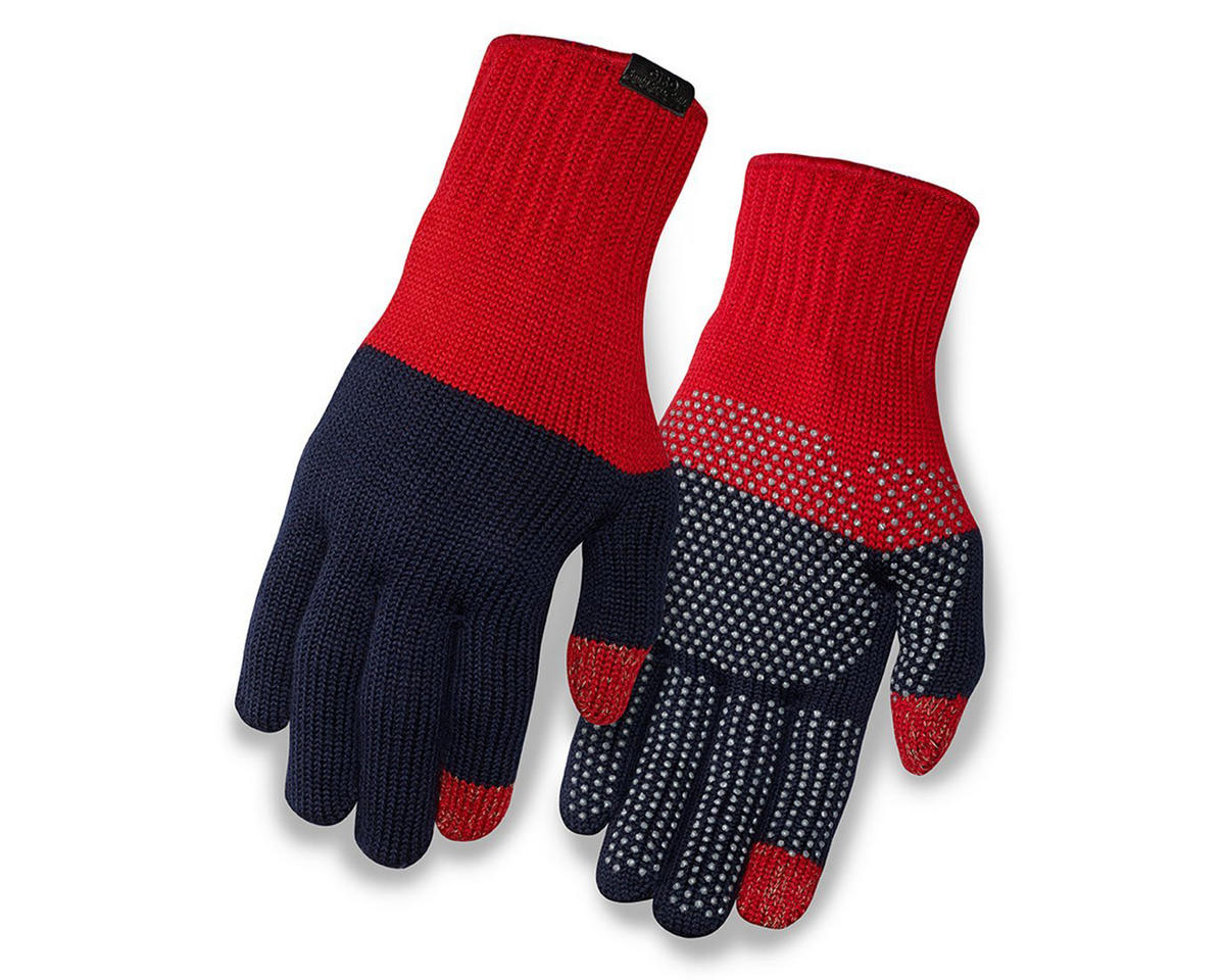 Giro Merino Wool Bike Gloves (Red/Dress Blue) (L/XL)