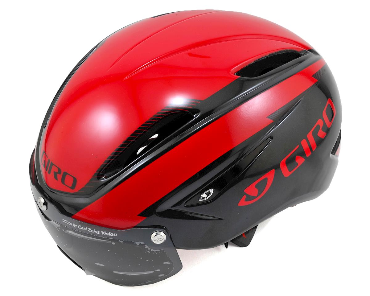 Giro Air Attack Shield Aero Road/Track Helmet (Red/Black)