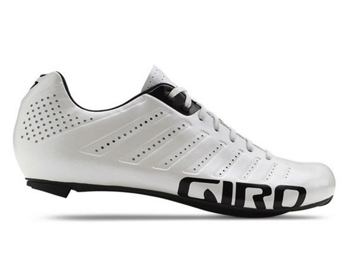 Giro Empire SLX Lace-Up Bike Shoes (White/Black) (43)