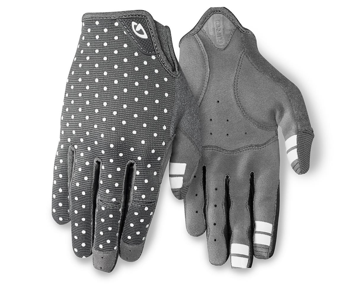 Giro LA DND Women's Long Finger Gloves (Grey/White Dots) (M)