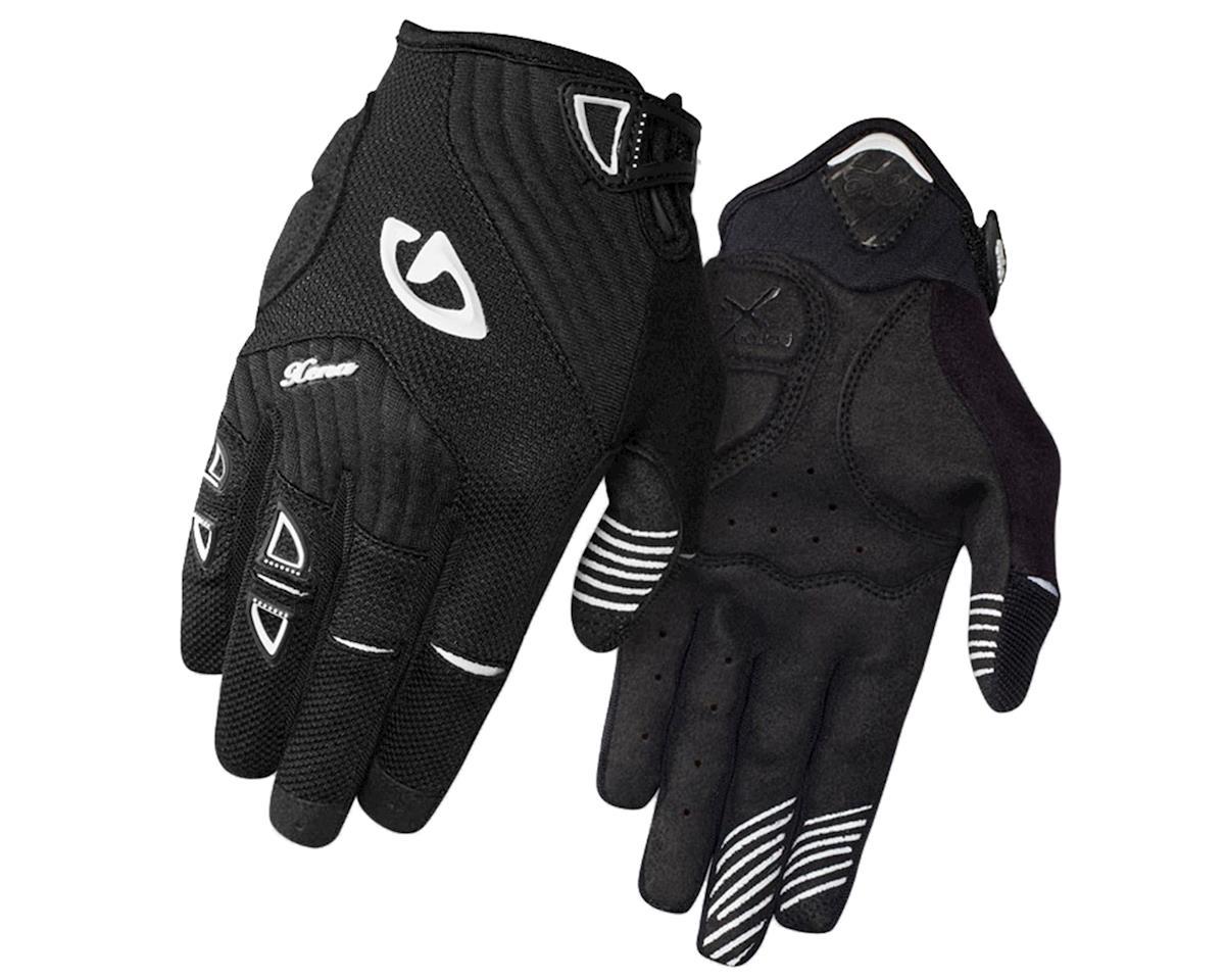 Giro Xena Women's Mountain Bike Gloves (Black/White) (L)
