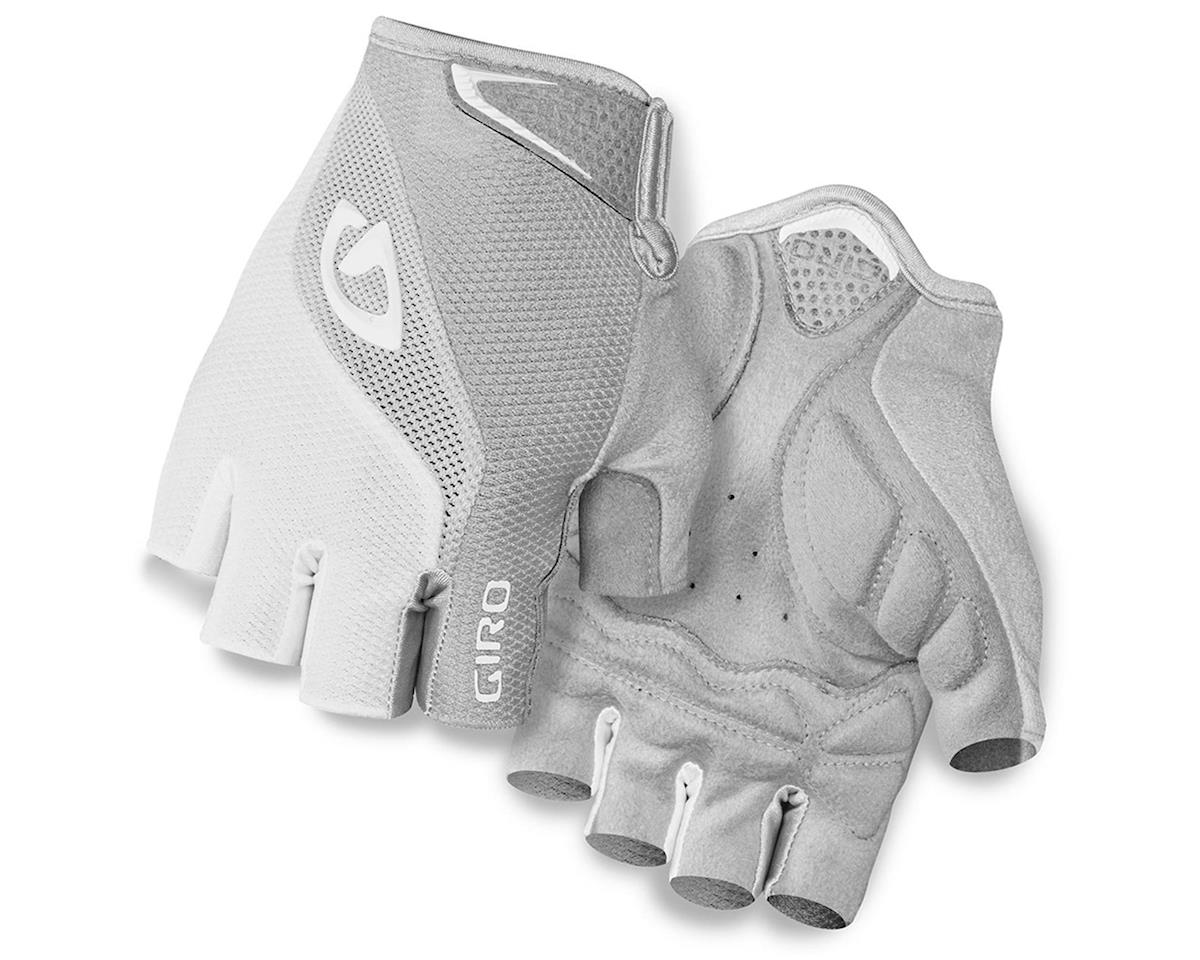 Giro Bravo Gel Cycling Gloves (White/Silver) (L)