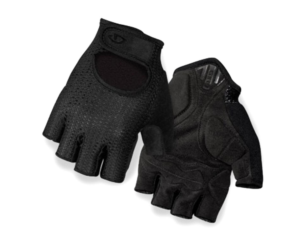 Giro SIV Retro Short Finger Bike Gloves (Black) (L)