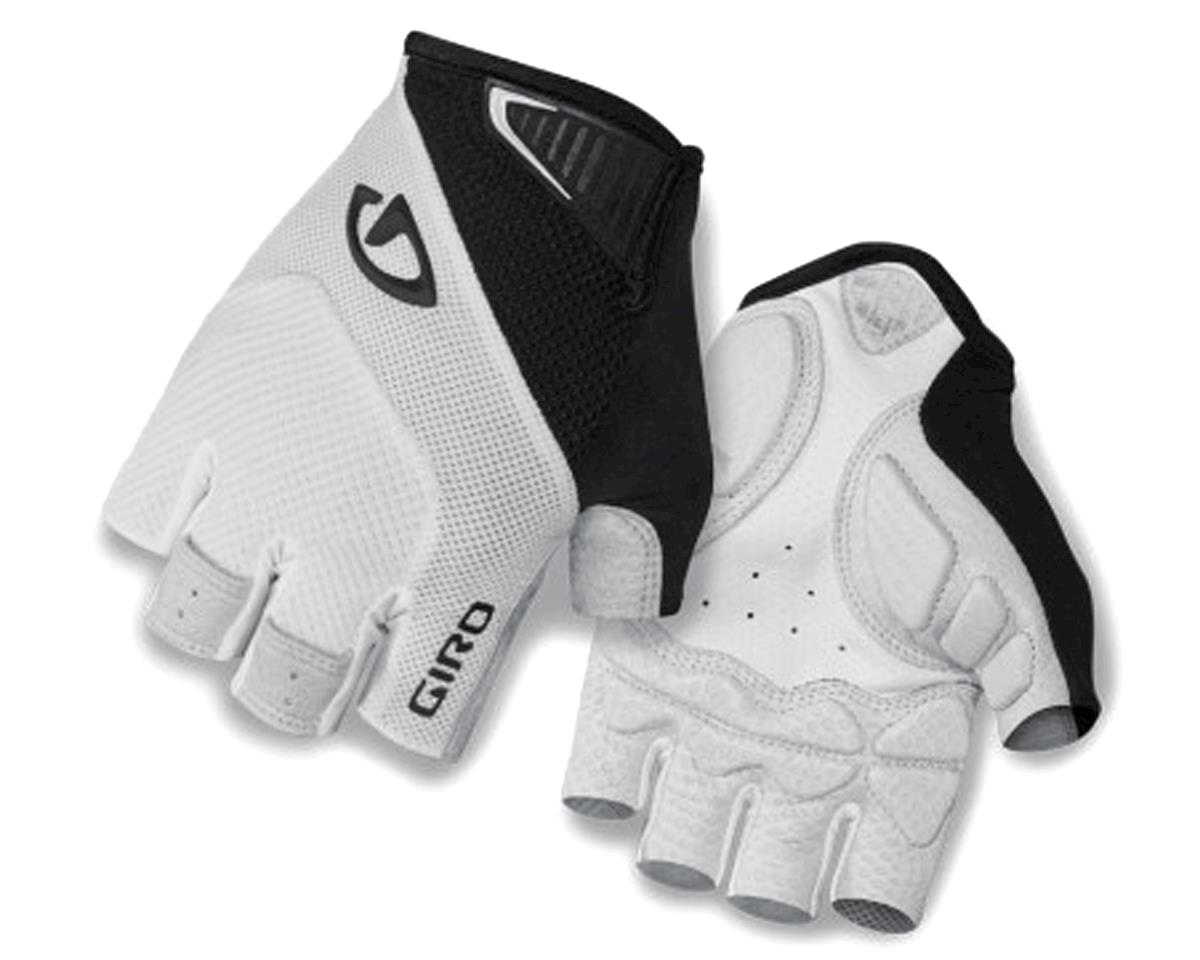 Giro Monaco Short Finger Bike Gloves (White/Black) (L)