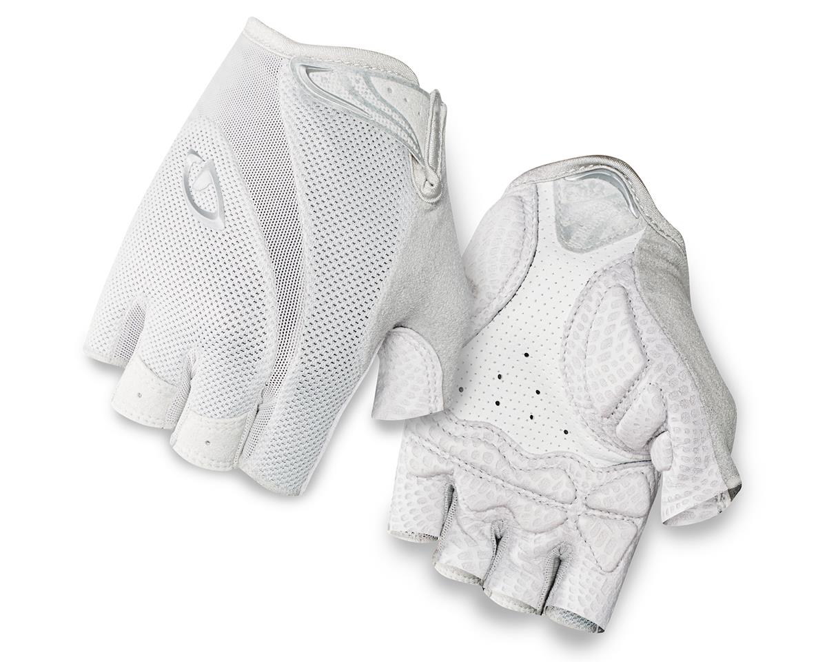 Giro Monica Short Finger Bike Gloves (White/Silver) (M)