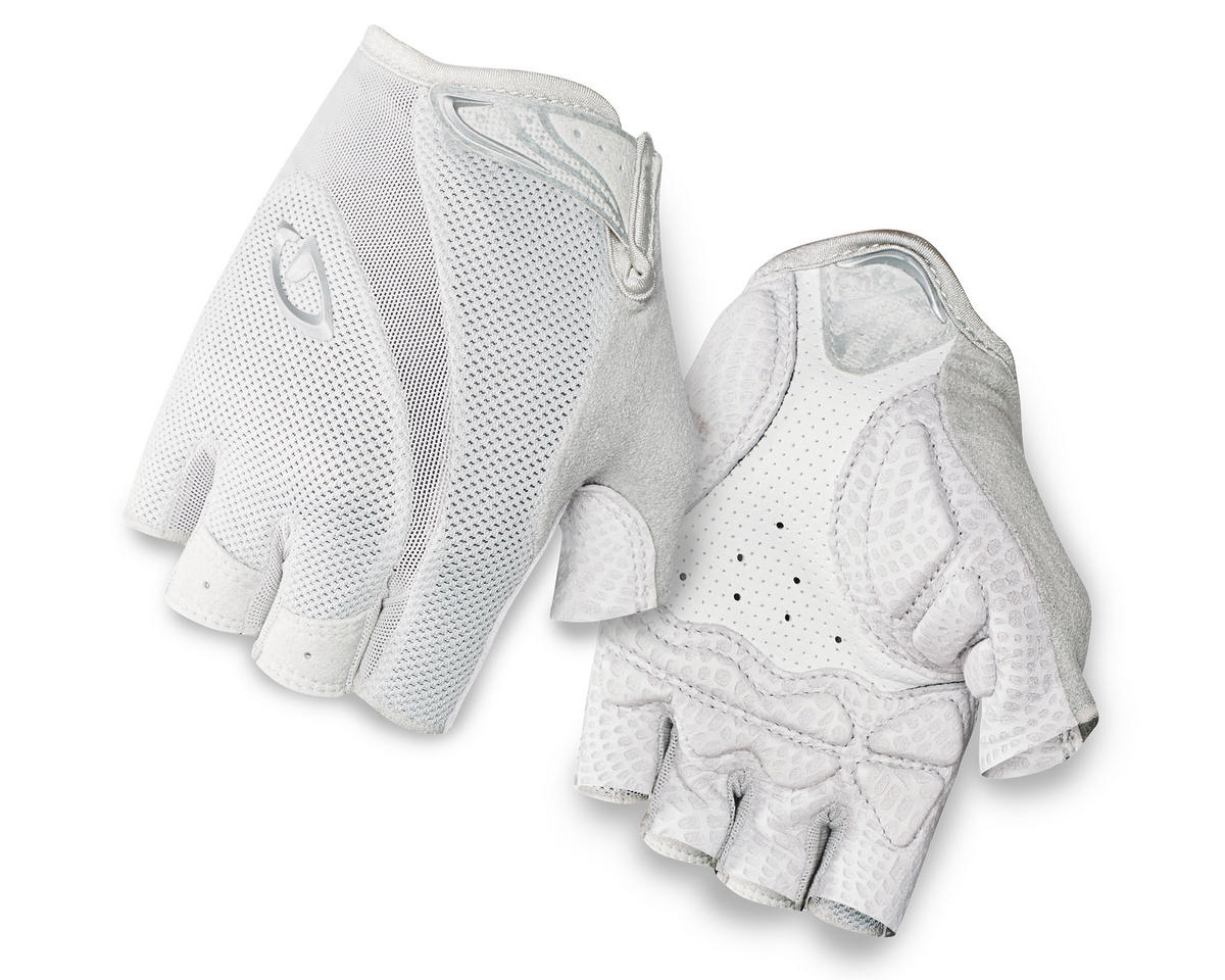 Giro Monica Short Finger Bike Gloves (White/Silver) (L)