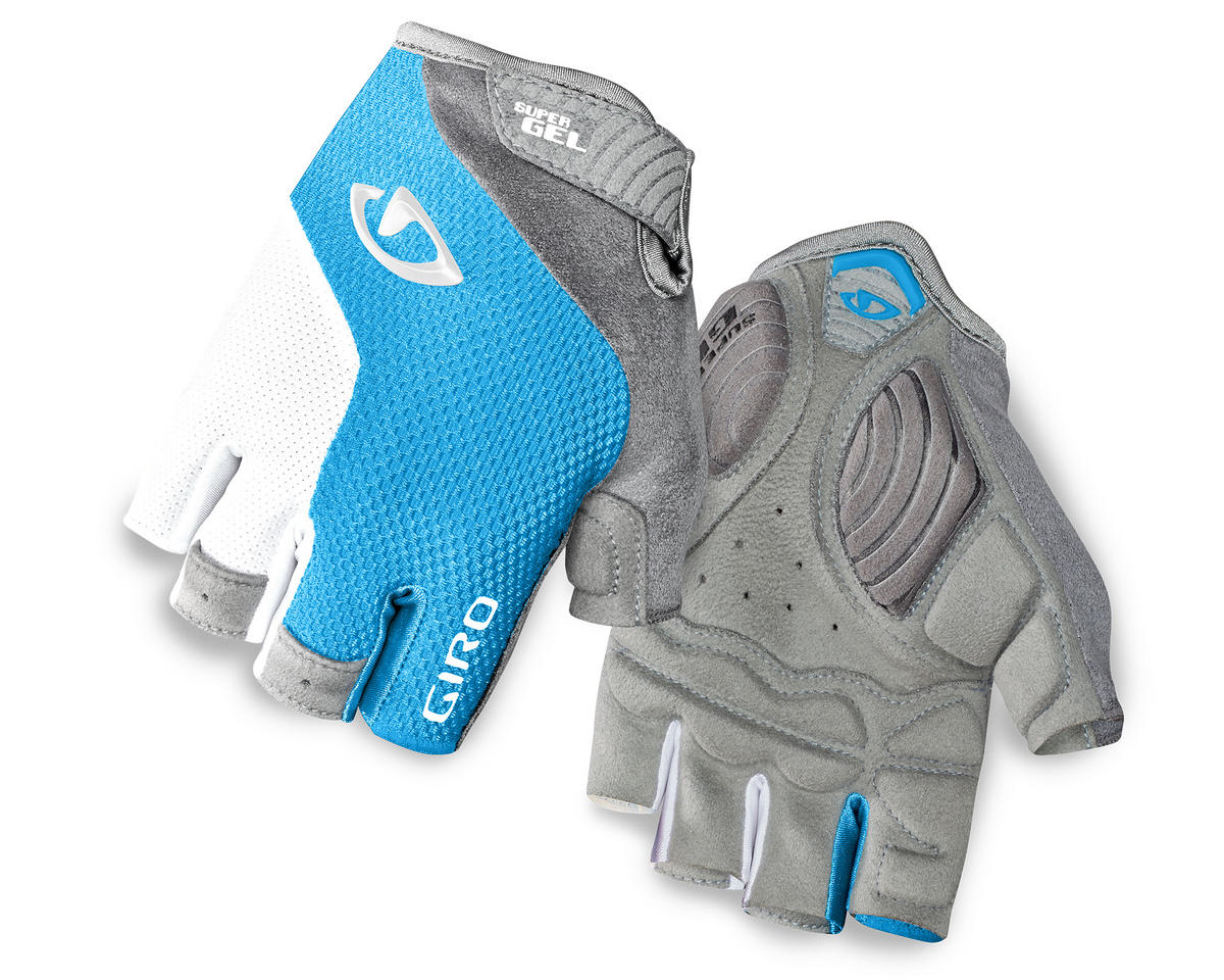 Giro Strada Massa Supergel Women's Bike Gloves (Blue Jewel/White) (L)