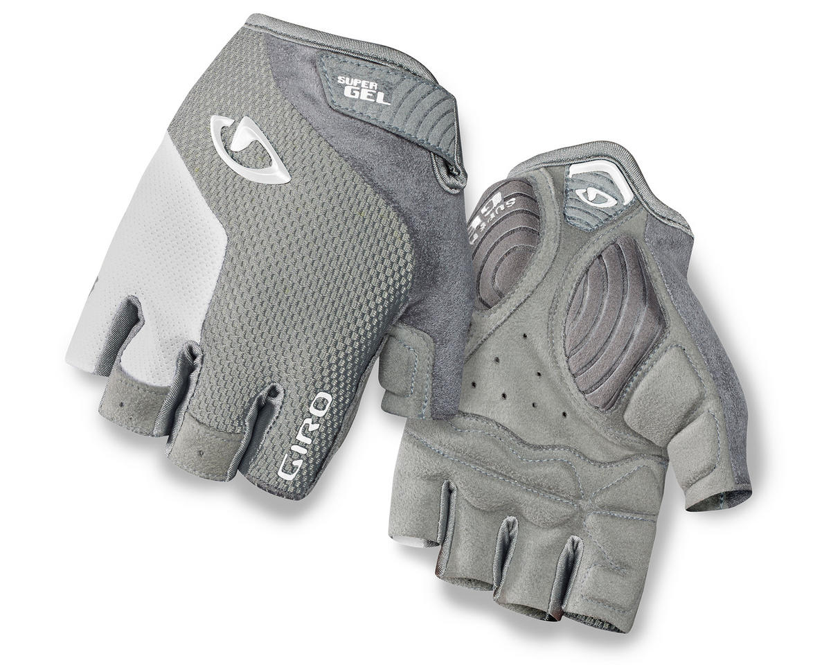 Giro Strada Massa Supergel Women's Bike Gloves (Silver/White) (L)