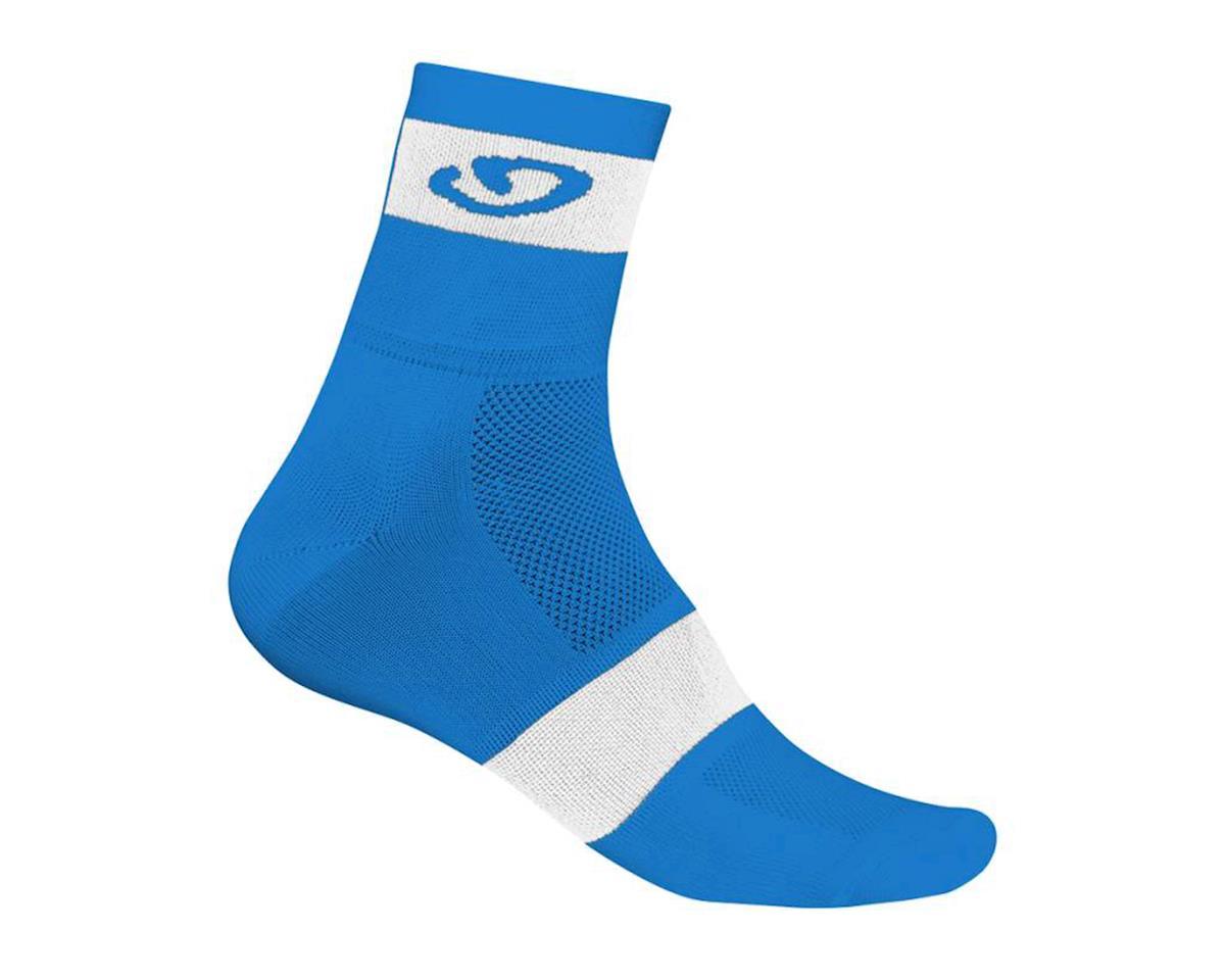 """Giro Comp Racer 3"""" Socks (Blue/White) (M)"""