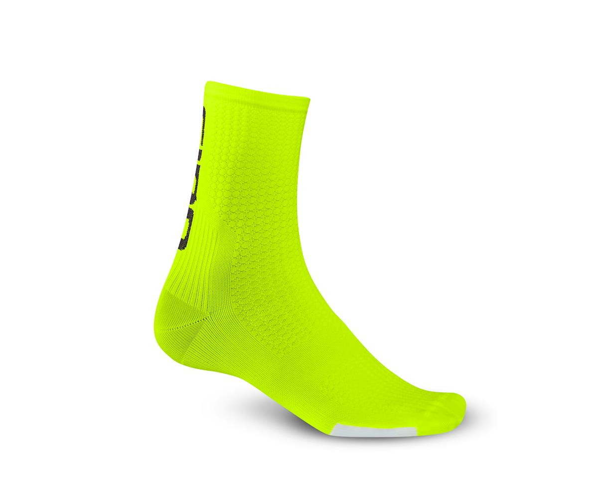Giro HRc Team Socks (Highlight Yellow/Black) (M)