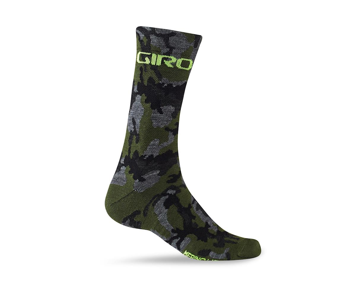 Giro Merino Seasonal Wool Socks (Camo/Highlight Yellow) (L)