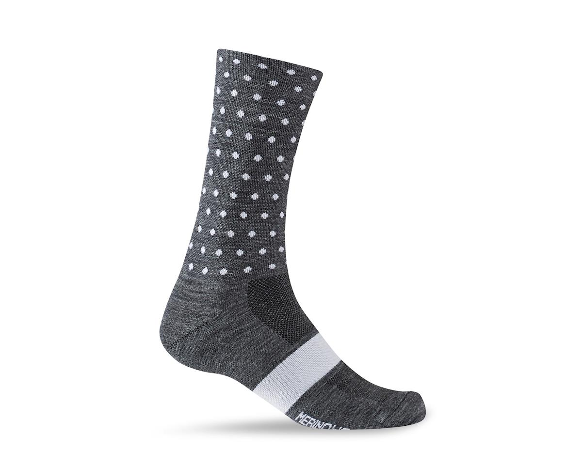 Giro Merino Seasonal Wool Socks (Charcoal/White Dots) (M)