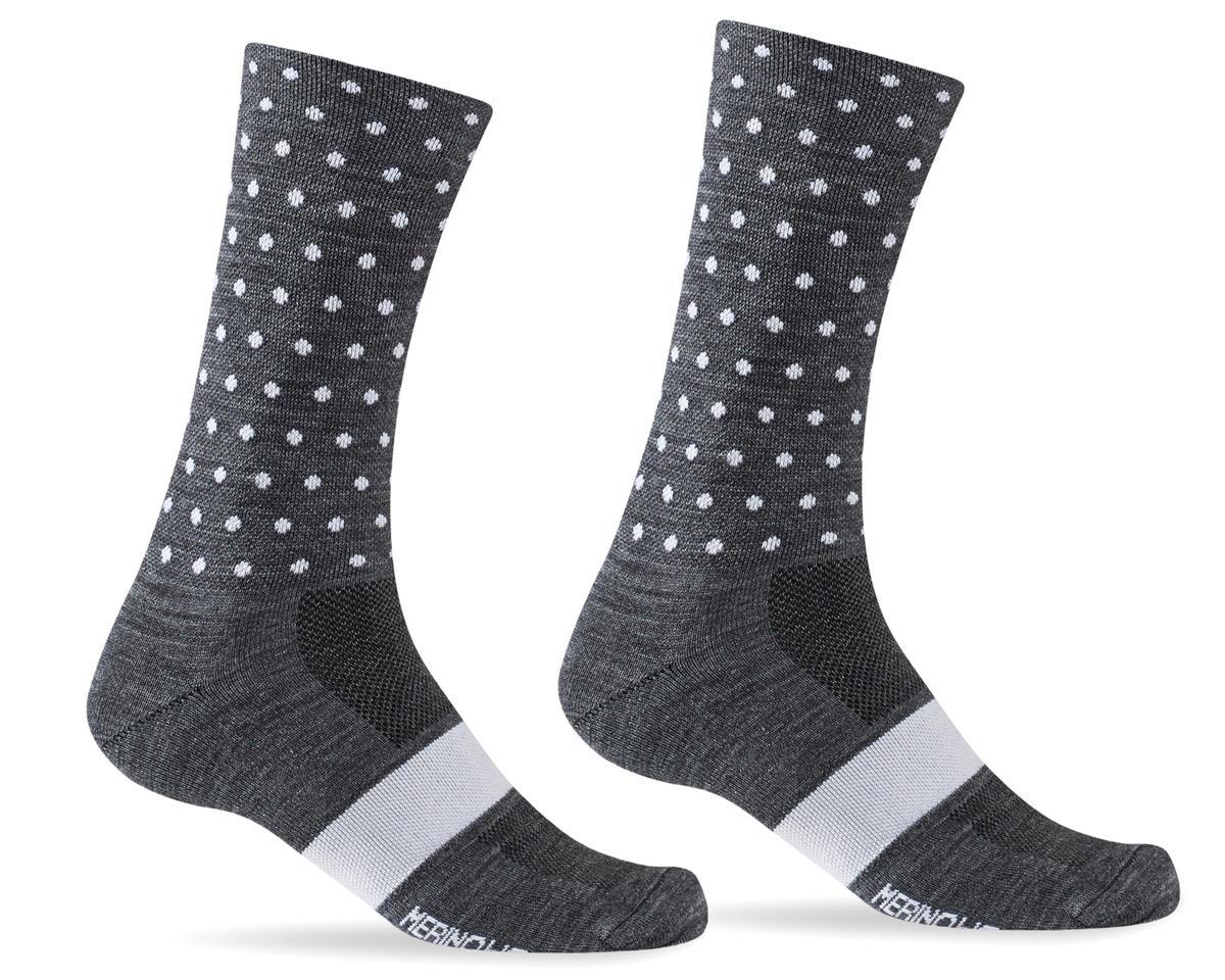 Giro Merino Seasonal Wool Socks (Charcoal/White Dots) (XL)