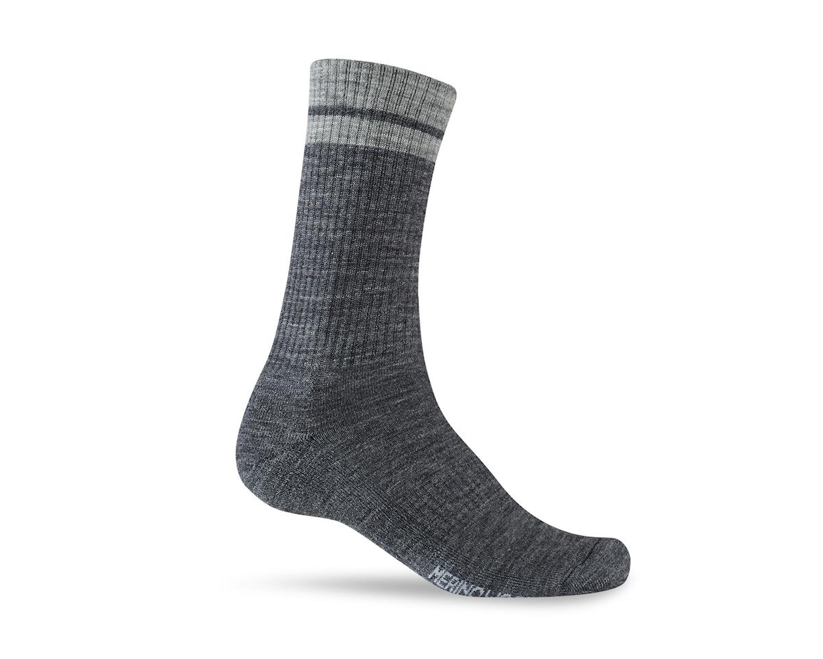 Giro Winter Merino Wool Socks (Charcoal/Grey) (L)