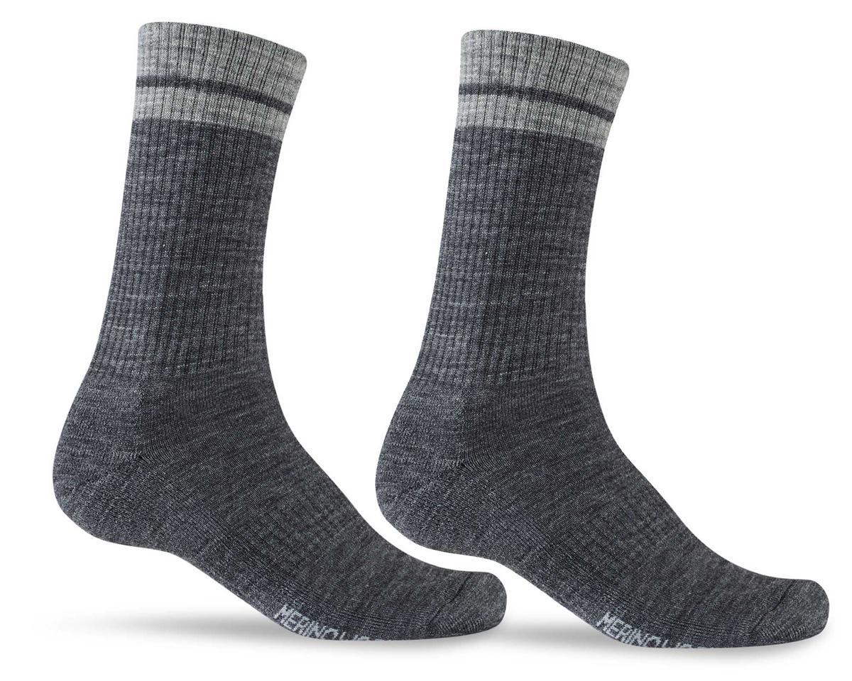 Giro Winter Merino Wool Socks (Charcoal/Grey) (L)