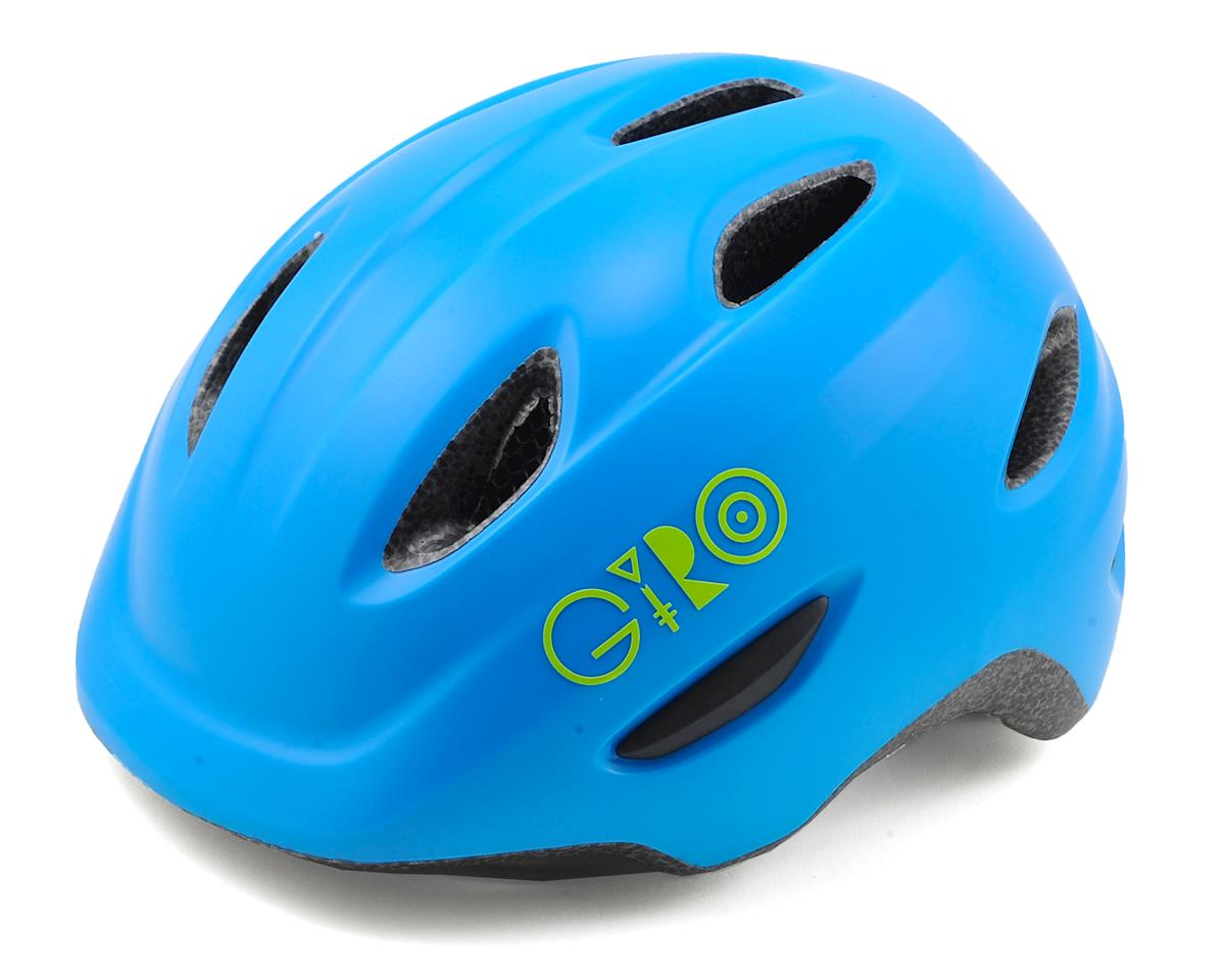 Giro Kids's Scamp Bike Helmet (Matte Blue/Lime) (XS)