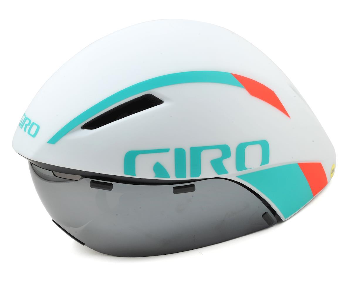 Giro Aerohead MIPS Aero Racing Helmet (White/Turquoise/Vermillion)