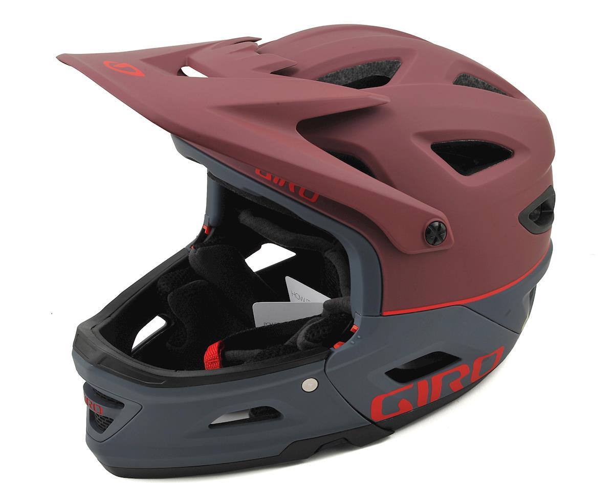 Giro Switchblade MIPS Full Face/Half Shell Helmet (Matte Dark Slate/Maroon)
