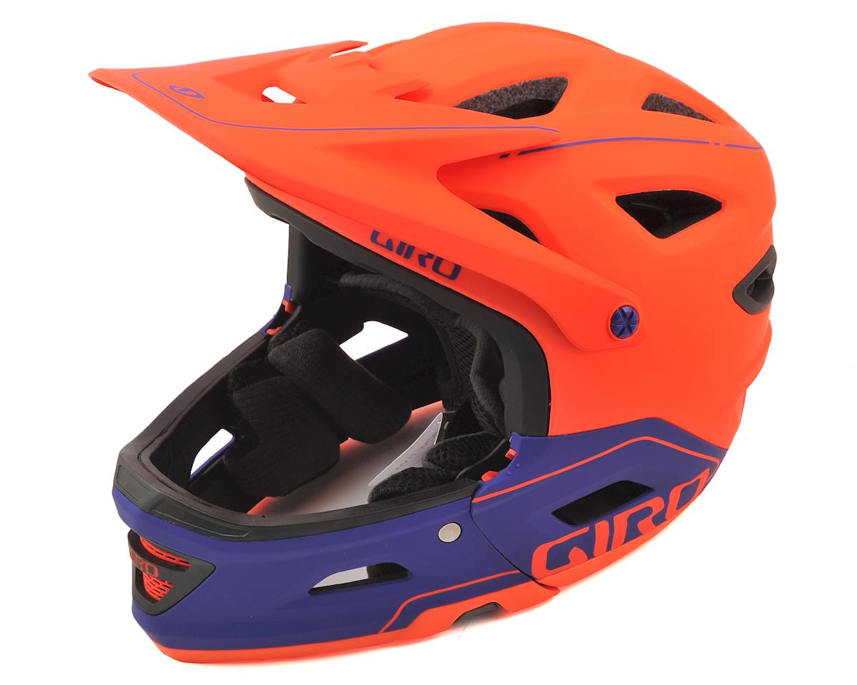 Giro Switchblade MIPS Full Face/Half Shell Helmet (Matte Vermillion/Purple)