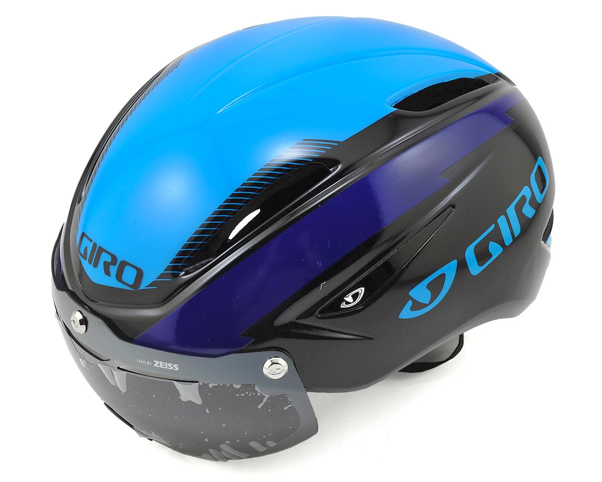 Giro Air Attack Shield Aero Road/Track Helmet (Black/Blue/Purple)