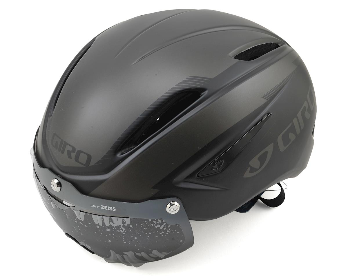 Giro Air Attack Shield Aero Road/Track Helmet (Matte Black/Gloss Black)