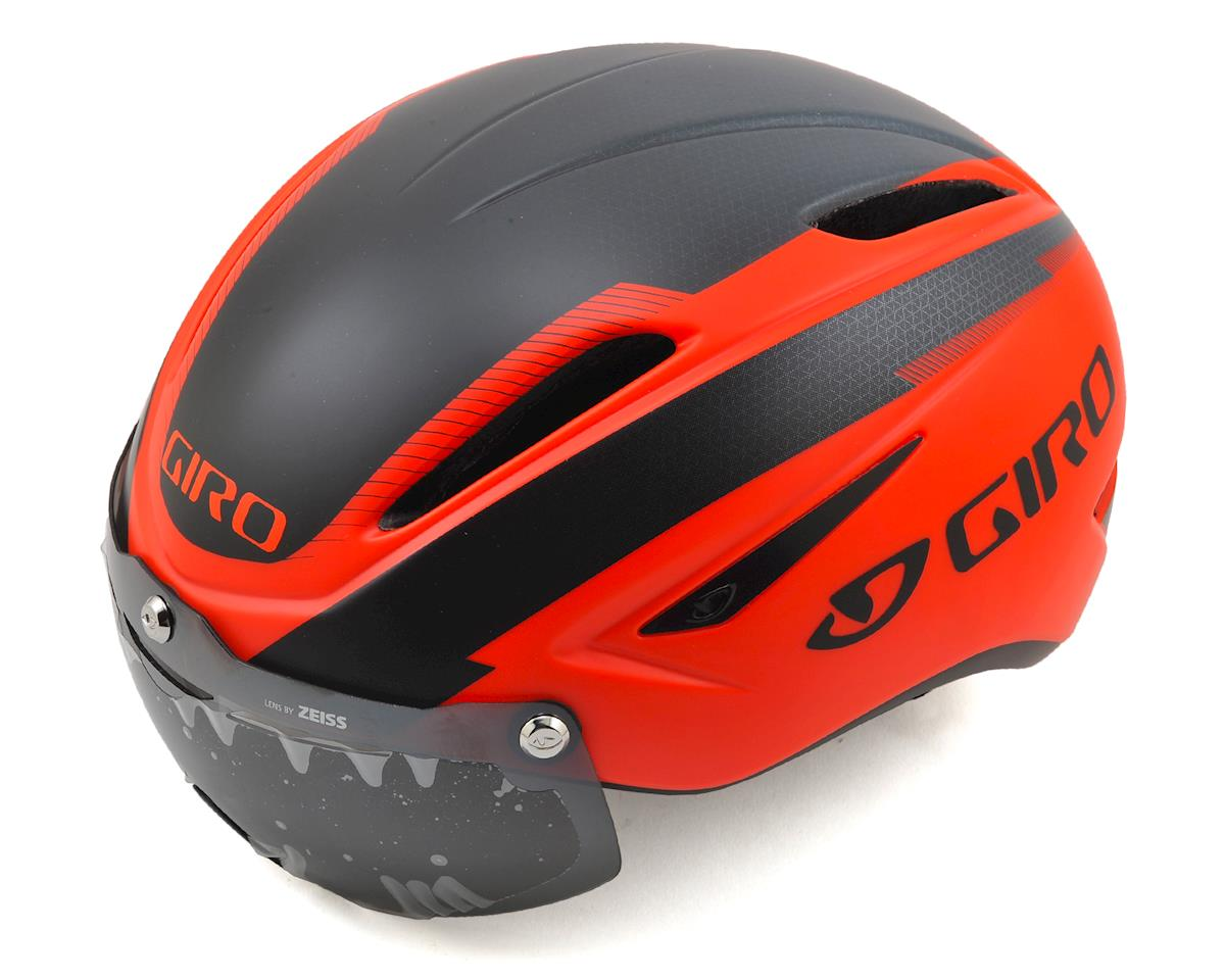 Giro Air Attack Shield Aero Road/Track Helmet (Matte Vermillion/Black)