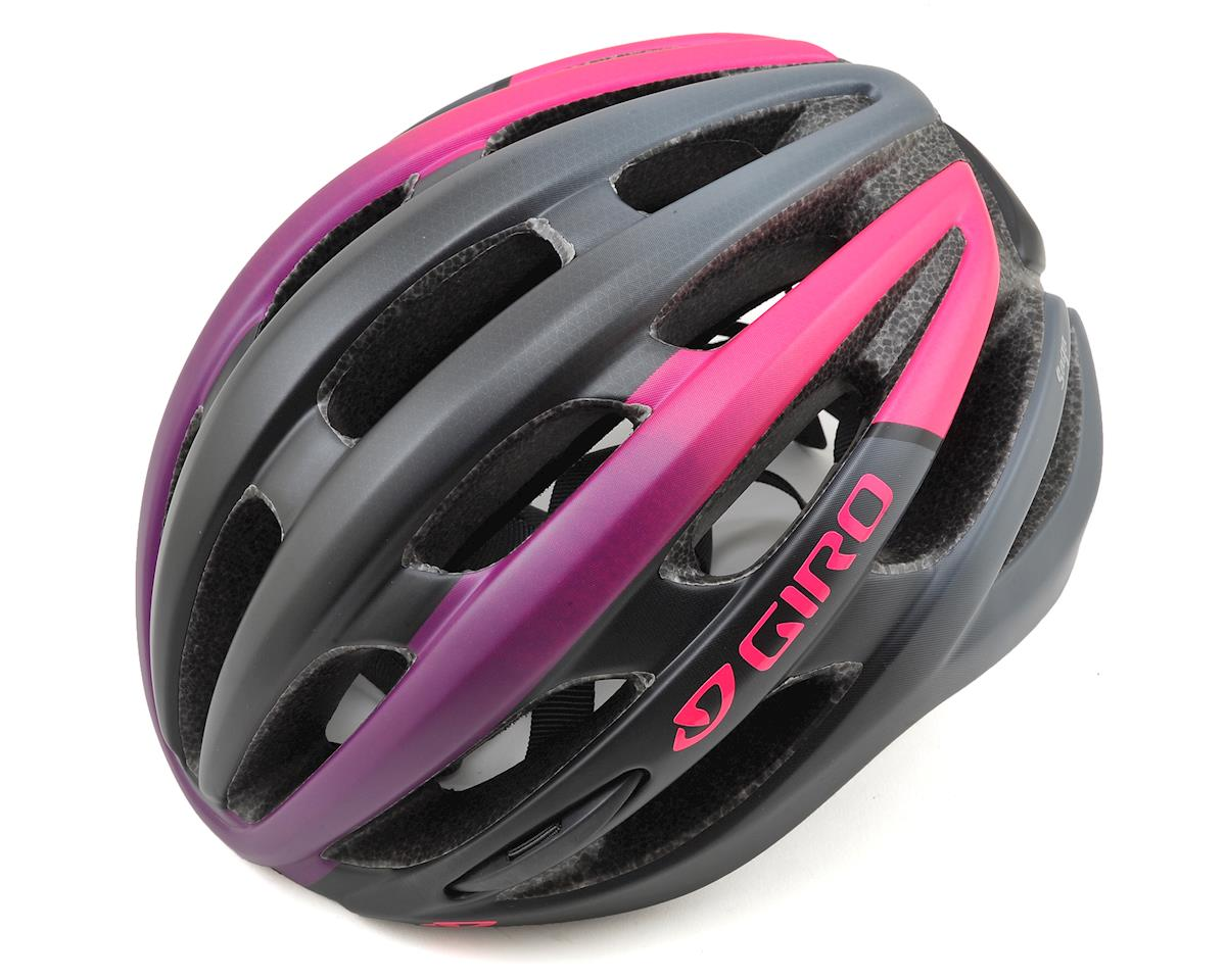 Giro Saga Womens Road Helmet (Matte Bright Pink/Black) (M)