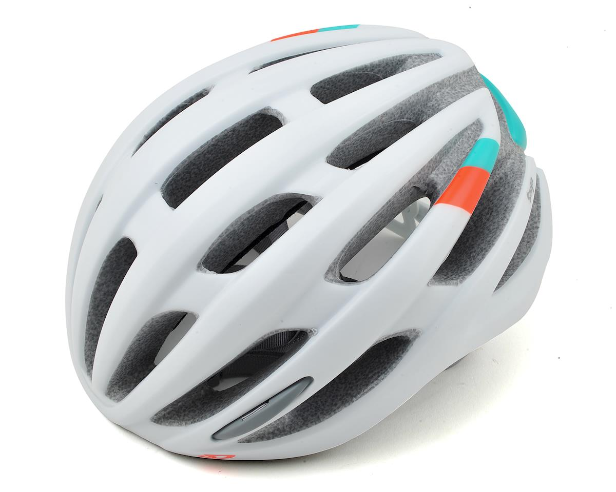 Giro Saga Womens Road Helmet (Matte White/Turquoise/Vermillion)