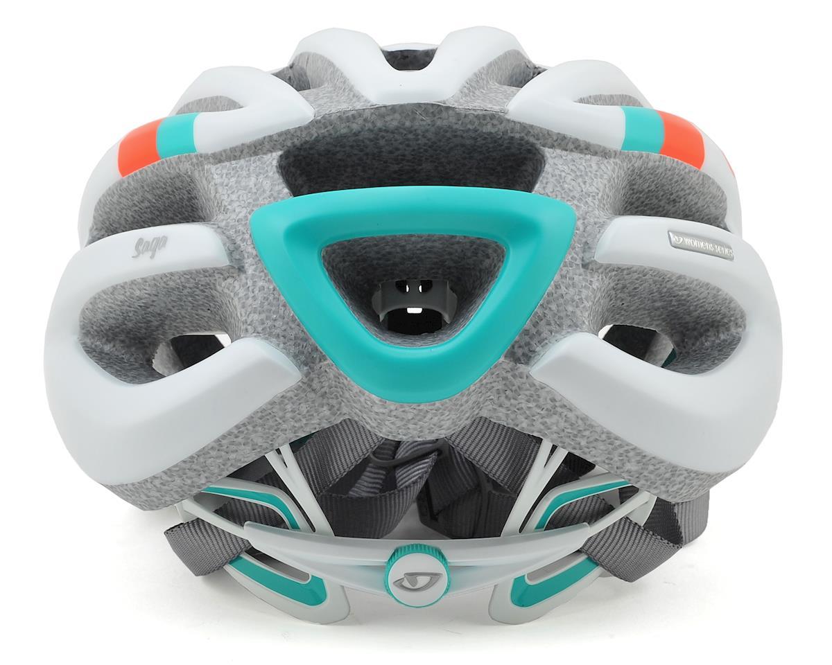 Giro Saga Womens Road Helmet (Matte White/Turquoise/Vermillion) (S)