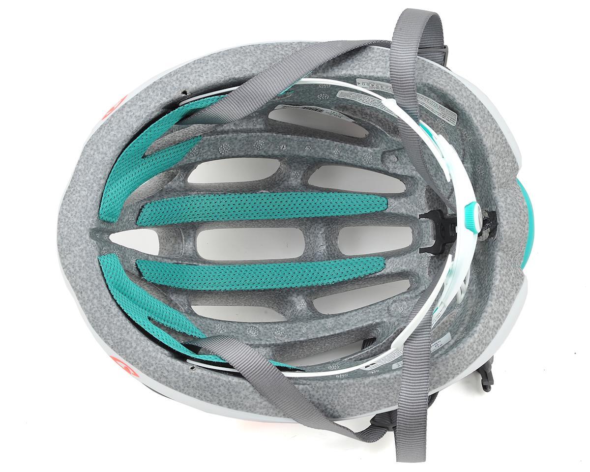 Giro Saga Womens Road Helmet (Matte White/Turquoise/Vermillion) (M)