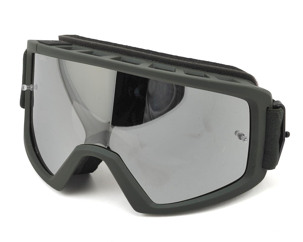 Blok MTB Goggles (Matte Olive) (Grey/Silver)