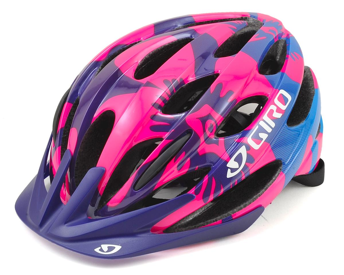 Giro Raze Youth Bike Helmet (Berry/Blue Flowers) (One Size)