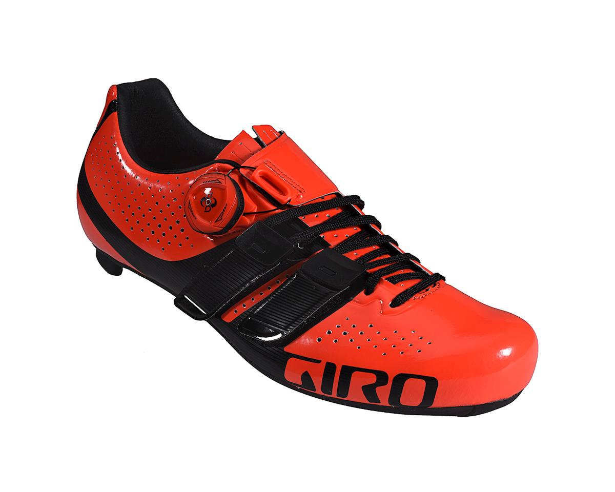 Image 1 for Giro Factor Techlace Road Shoes (Vermillion/Black)