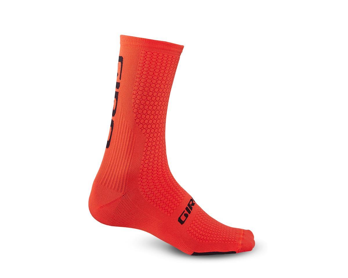 Giro HRc Team Socks (Vermillion Orange/Black) (L)