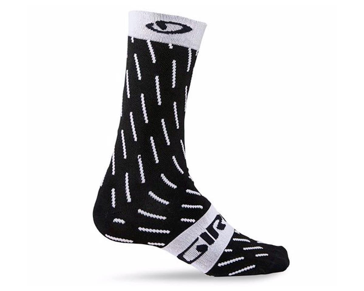 "Giro Comp Racer High Rise 6"" Socks (Black/White Echelon)"