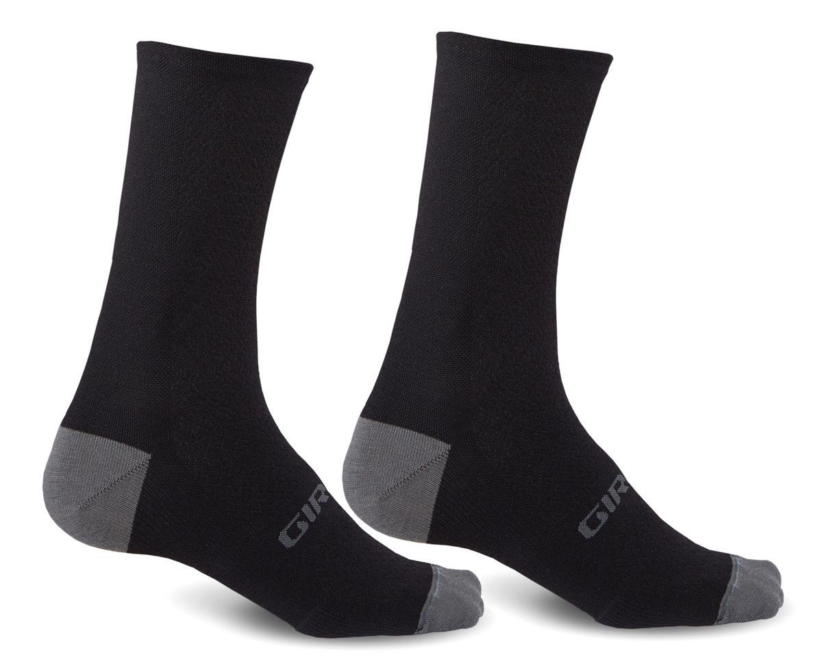 Giro HRc+ Merino Wool Socks (Black/Charcoal) (L)