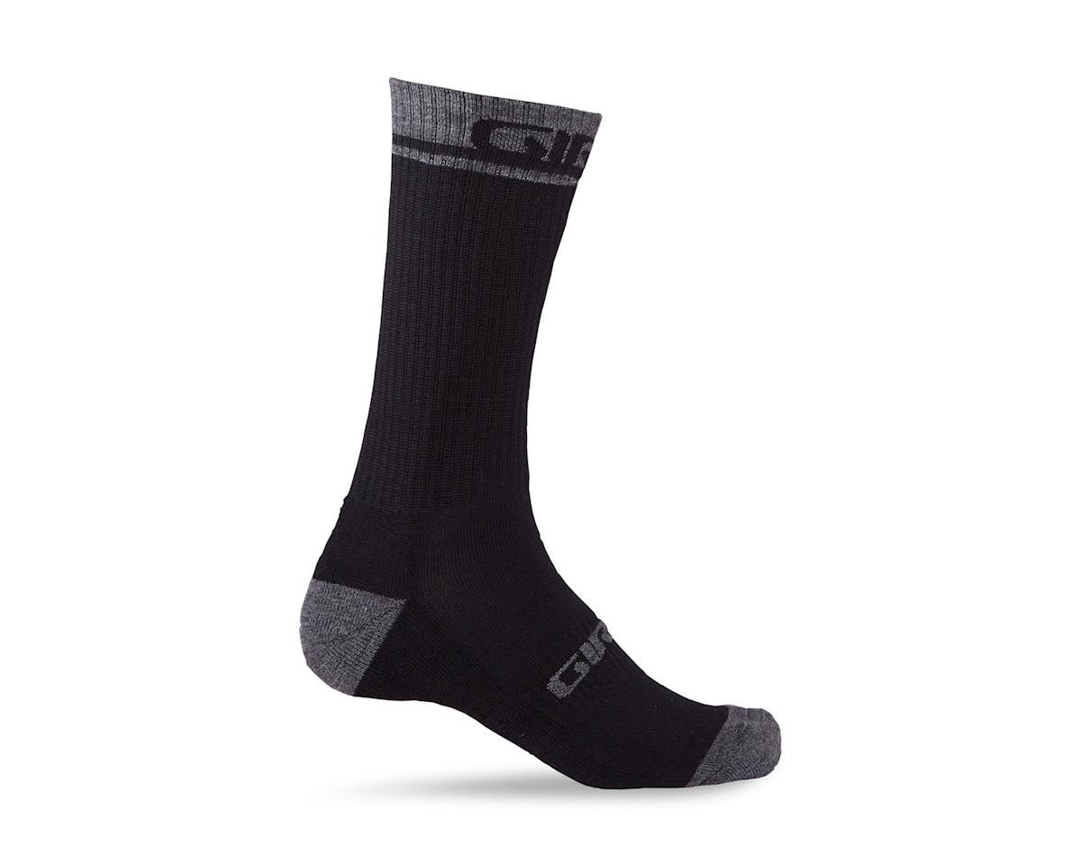 Giro Winter Merino Wool Socks (Black/Dark Shadow) (M)