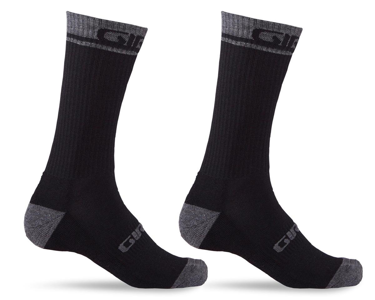 Giro Winter Merino Wool Socks (Black/Dark Shadow) (M)
