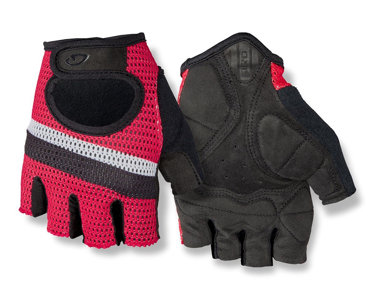 Giro SIV Retro Short Finger Bike Gloves (Red/White Stripe) (L)