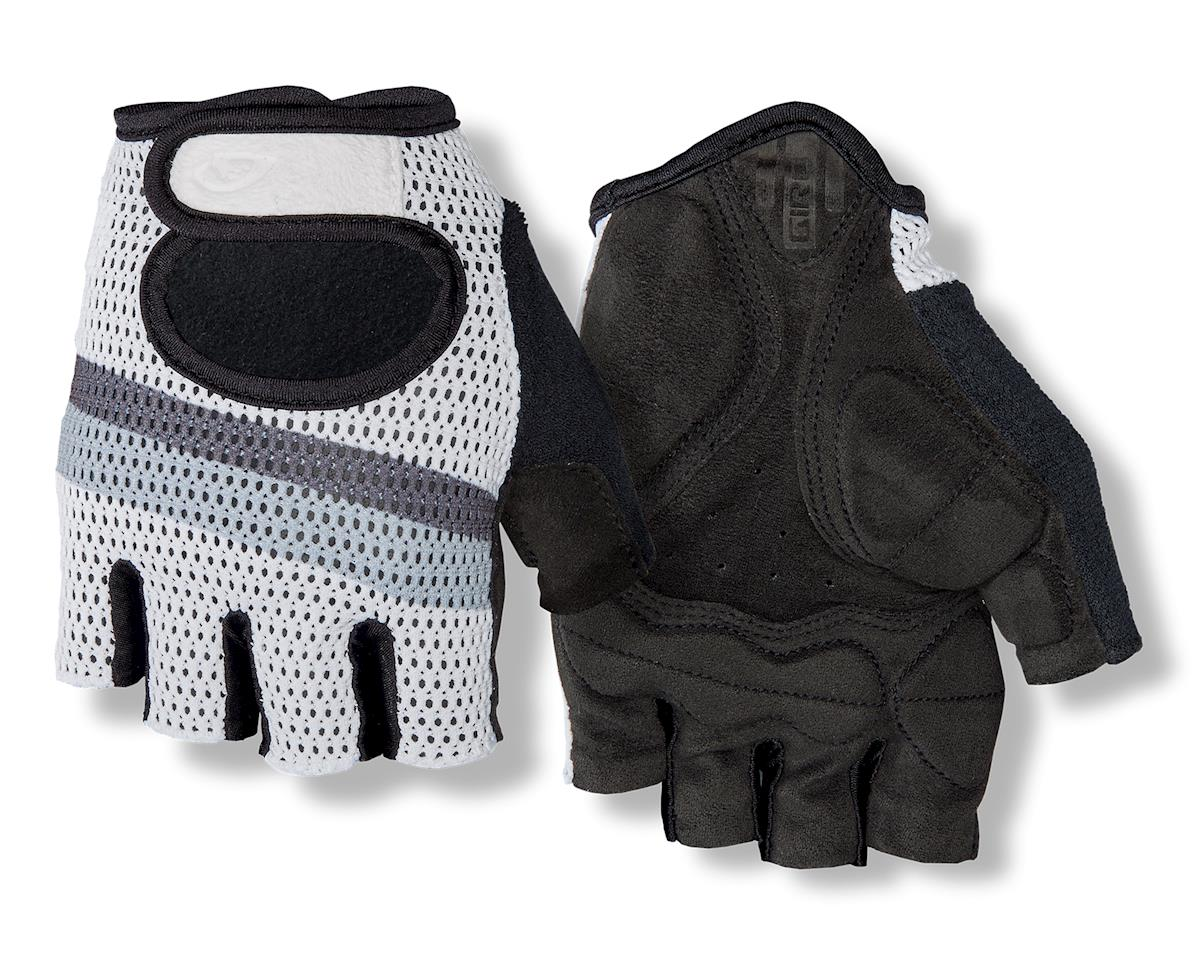 Giro SIV Retro Short Finger Bike Gloves (White/Grey Stripe) (M)