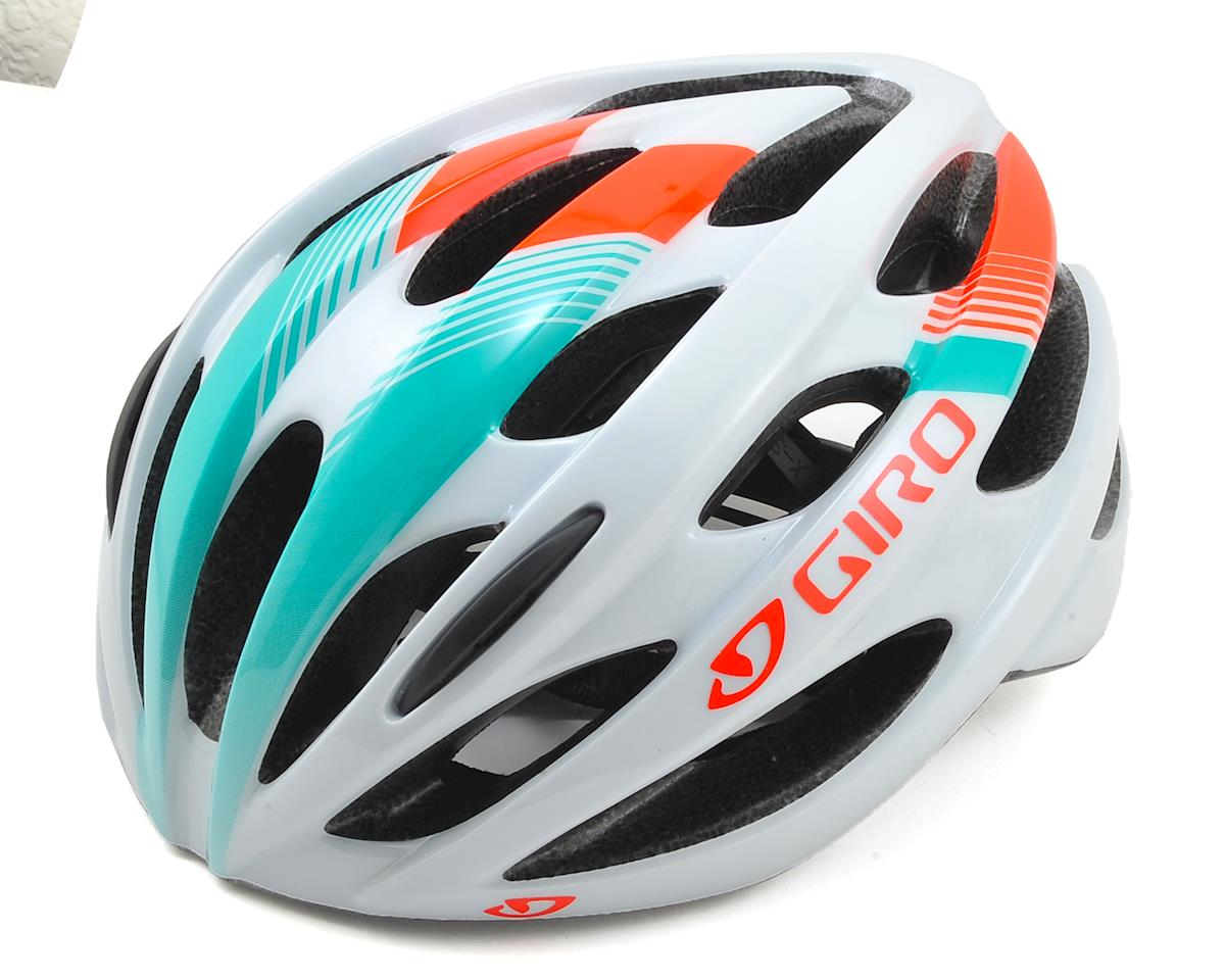 Giro Trinity Road Bike Helmet (White/Turquoise/Vermillion)