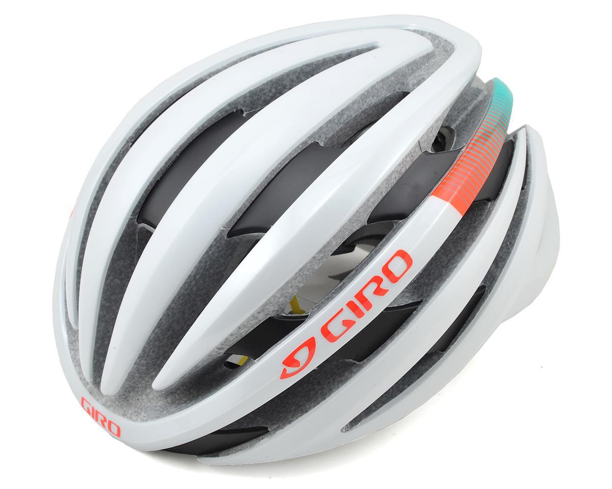 Giro Cinder MIPS Road Bike Helmet (Matte White/Turquoise/Vermillion)