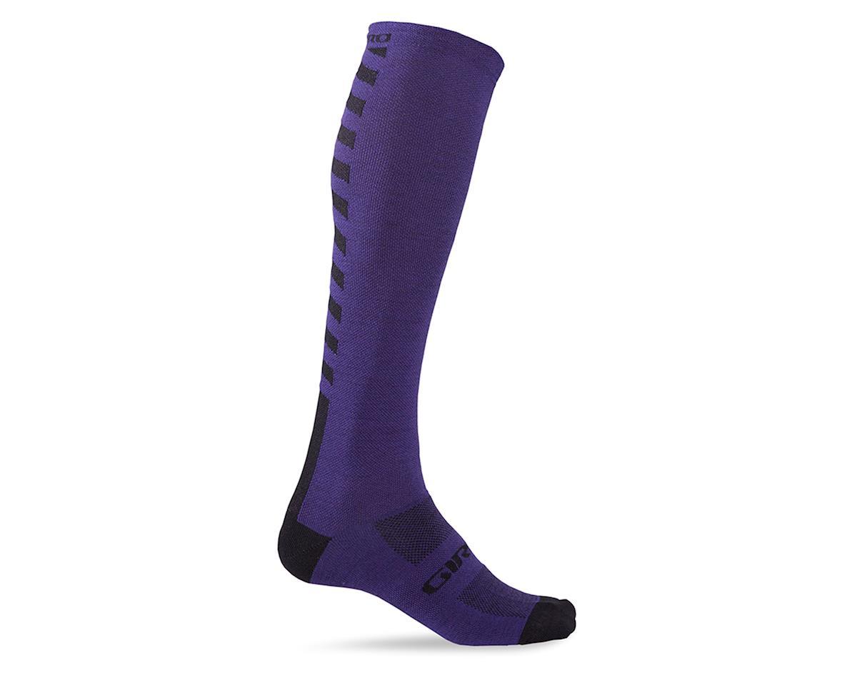 """Giro Hightower Merino Wool 18"""" Socks (Ultraviolet) (XL)"""
