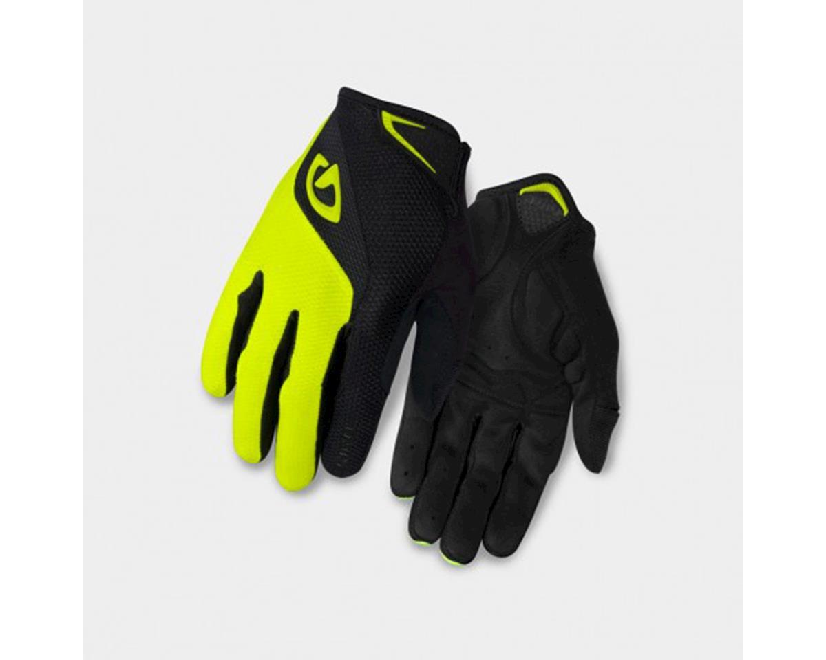 Giro Bravo Gel Long Finger Gloves (Yellow/Black) (L)