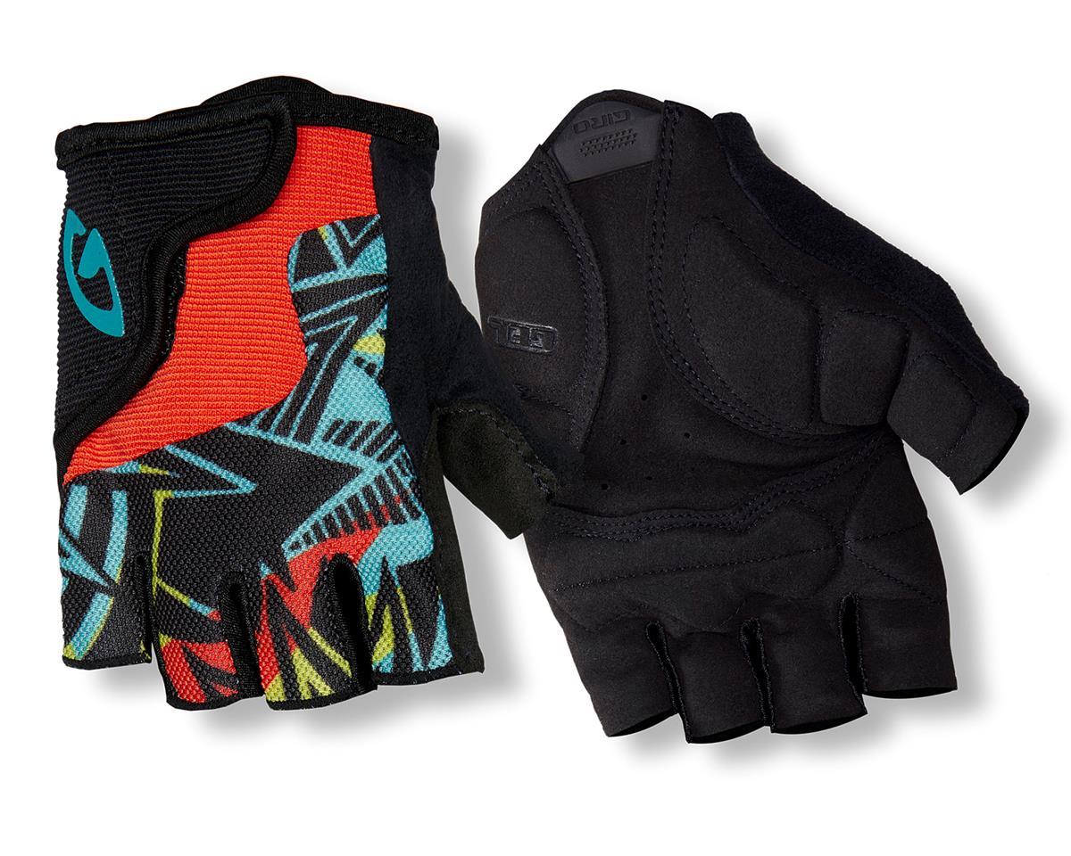 Giro Bravo Jr Gloves (Pink Swirl/Black) (L)