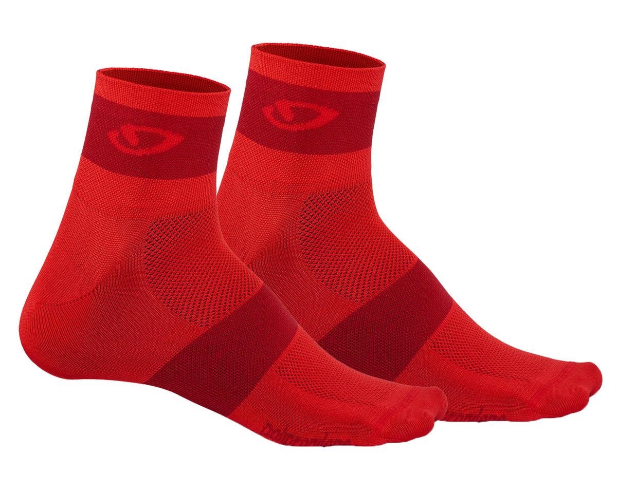 Giro Comp Racer Socks (Bright Red/Dark Red)