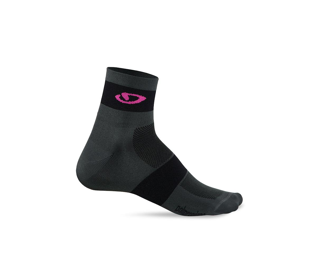 Giro Comp Racer Socks (Charcoal/Bright Pink) (S)
