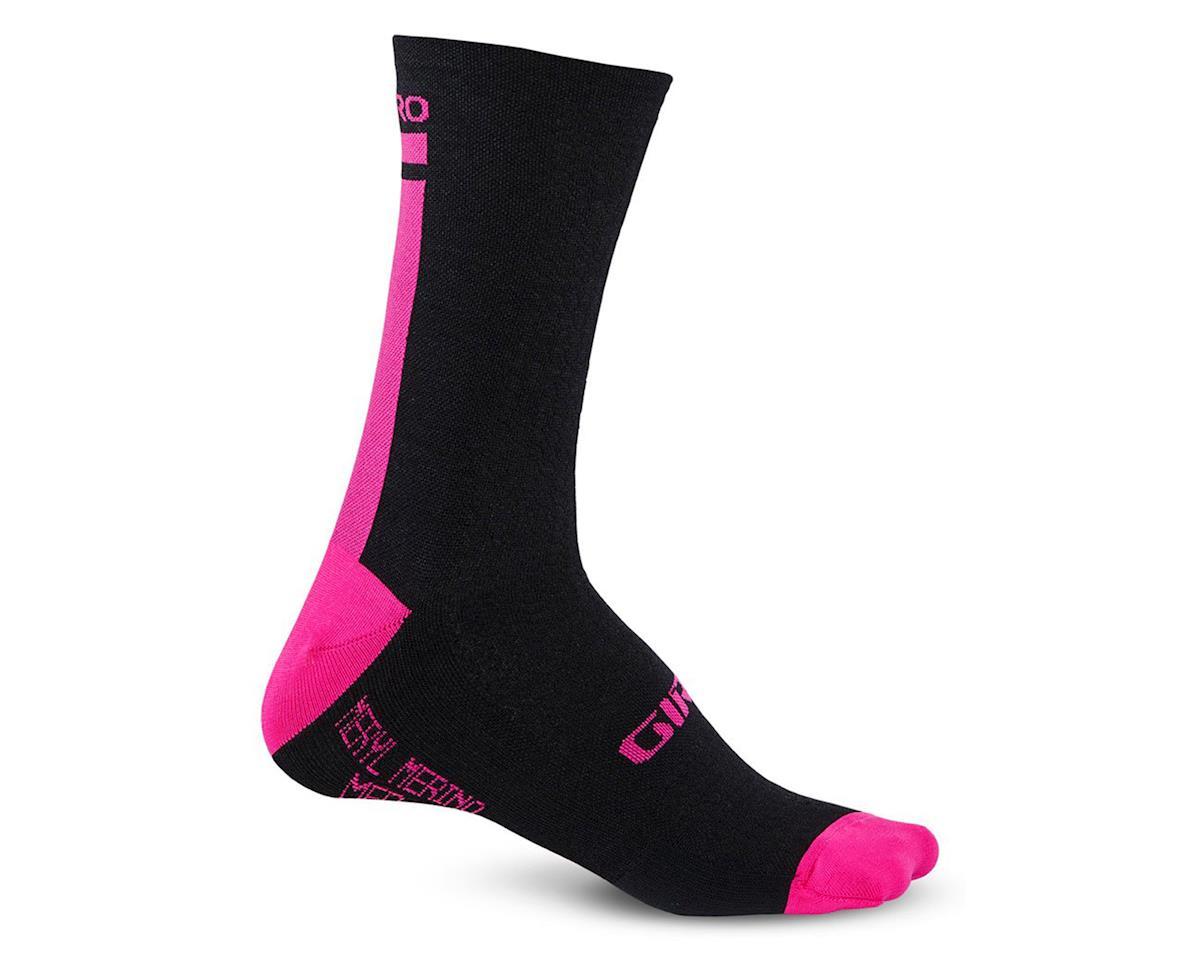 "Giro HRc+ Merino Wool 6"" Socks (Black/Bright Pink)"