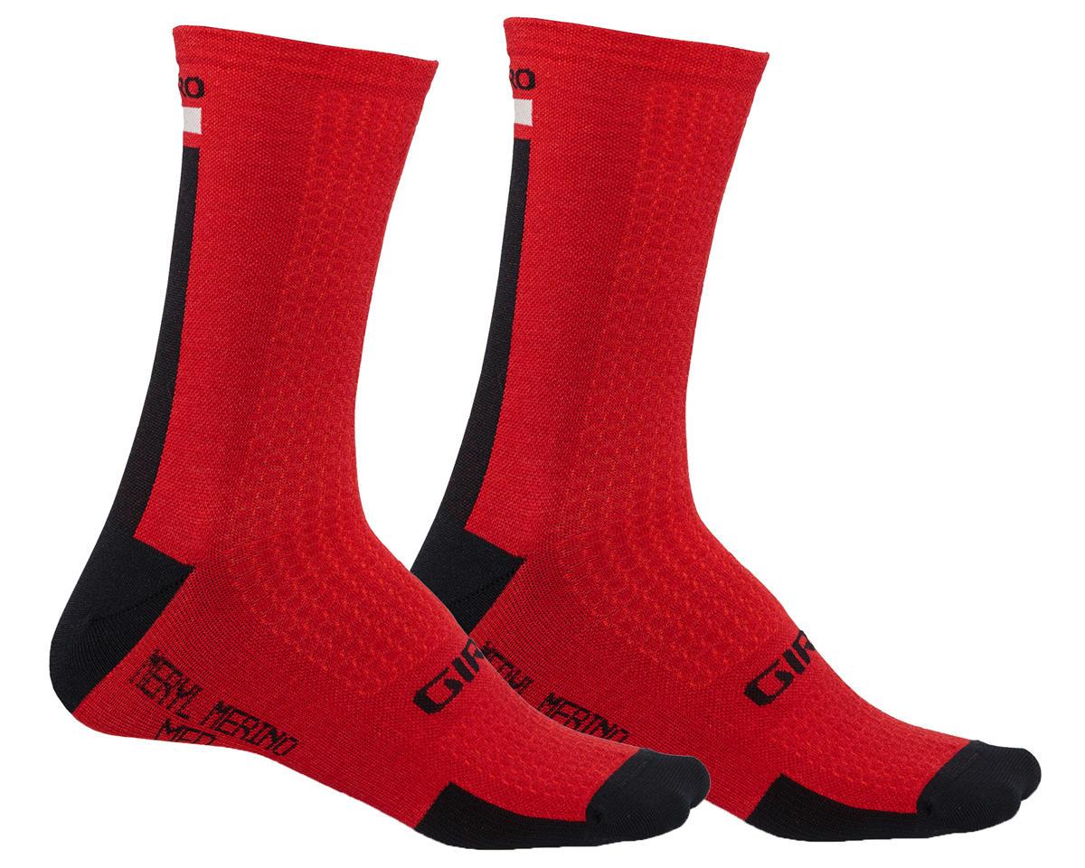 Giro HRc+ Merino Wool Socks (Dark Red/Black/Grey)